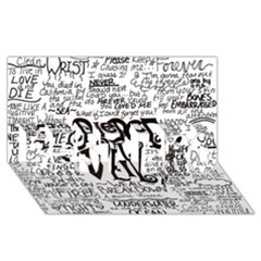 Pierce The Veil Music Band Group Fabric Art Cloth Poster BEST BRO 3D Greeting Card (8x4)