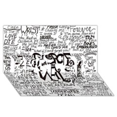 Pierce The Veil Music Band Group Fabric Art Cloth Poster Best Sis 3d Greeting Card (8x4)