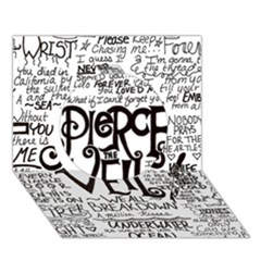 Pierce The Veil Music Band Group Fabric Art Cloth Poster Circle 3D Greeting Card (7x5)