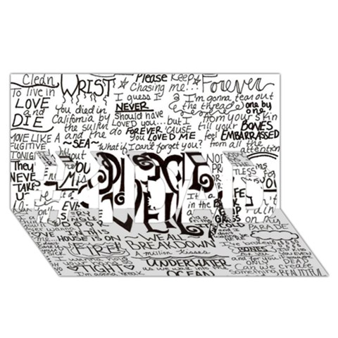 Pierce The Veil Music Band Group Fabric Art Cloth Poster #1 DAD 3D Greeting Card (8x4)