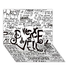 Pierce The Veil Music Band Group Fabric Art Cloth Poster Ribbon 3D Greeting Card (7x5)