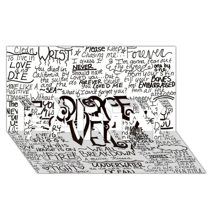 Pierce The Veil Music Band Group Fabric Art Cloth Poster PARTY 3D Greeting Card (8x4)