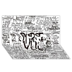 Pierce The Veil Music Band Group Fabric Art Cloth Poster HUGS 3D Greeting Card (8x4)