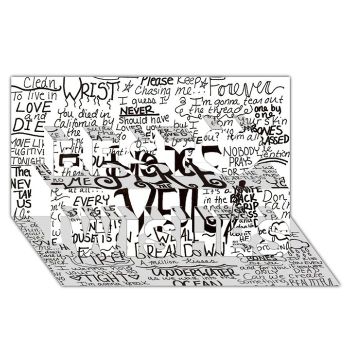 Pierce The Veil Music Band Group Fabric Art Cloth Poster Best Wish 3D Greeting Card (8x4)