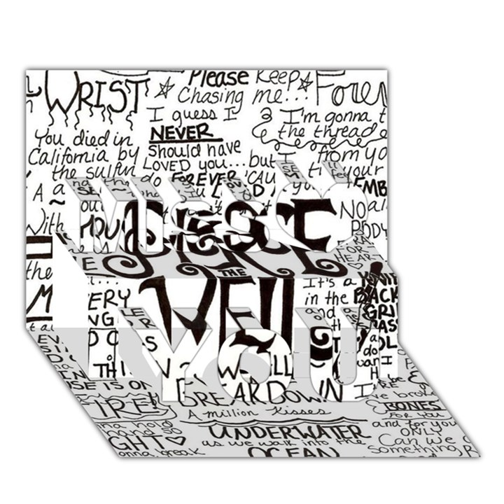 Pierce The Veil Music Band Group Fabric Art Cloth Poster Miss You 3D Greeting Card (7x5)