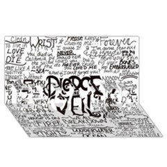 Pierce The Veil Music Band Group Fabric Art Cloth Poster Engaged 3d Greeting Card (8x4)