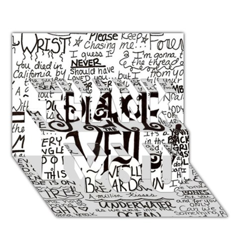 Pierce The Veil Music Band Group Fabric Art Cloth Poster THANK YOU 3D Greeting Card (7x5)