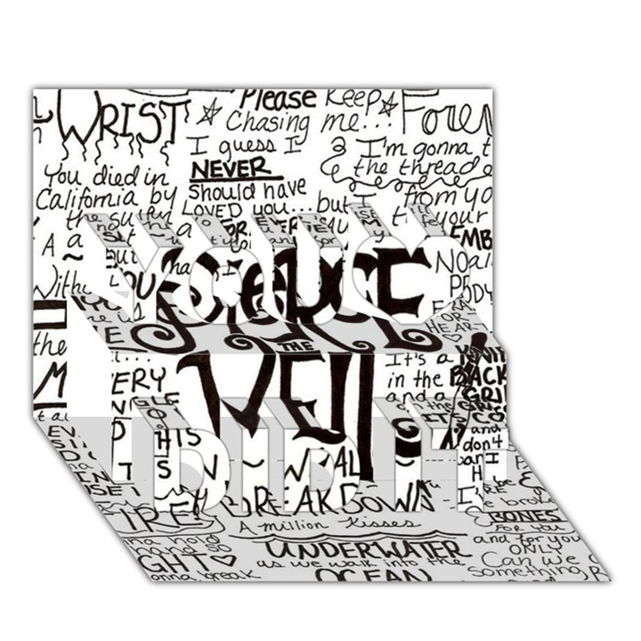 Pierce The Veil Music Band Group Fabric Art Cloth Poster You Did It 3D Greeting Card (7x5)