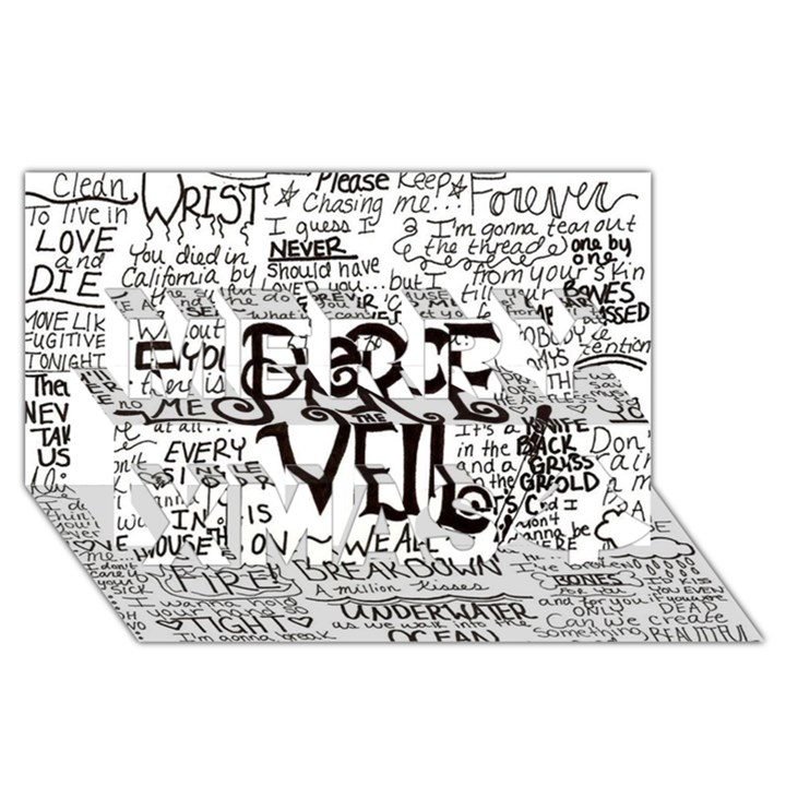 Pierce The Veil Music Band Group Fabric Art Cloth Poster Merry Xmas 3D Greeting Card (8x4)