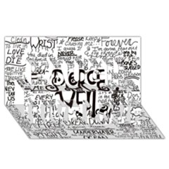 Pierce The Veil Music Band Group Fabric Art Cloth Poster Laugh Live Love 3D Greeting Card (8x4)
