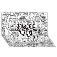 Pierce The Veil Music Band Group Fabric Art Cloth Poster Congrats Graduate 3D Greeting Card (8x4)