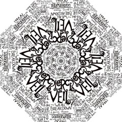 Pierce The Veil Music Band Group Fabric Art Cloth Poster Hook Handle Umbrellas (small)