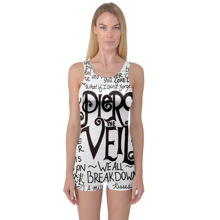 Pierce The Veil Music Band Group Fabric Art Cloth Poster One Piece Boyleg Swimsuit