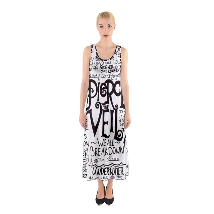 Pierce The Veil Music Band Group Fabric Art Cloth Poster Sleeveless Maxi Dress