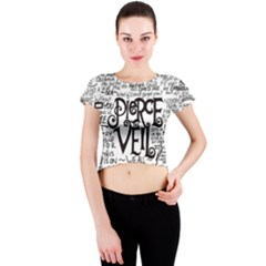 Pierce The Veil Music Band Group Fabric Art Cloth Poster Crew Neck Crop Top