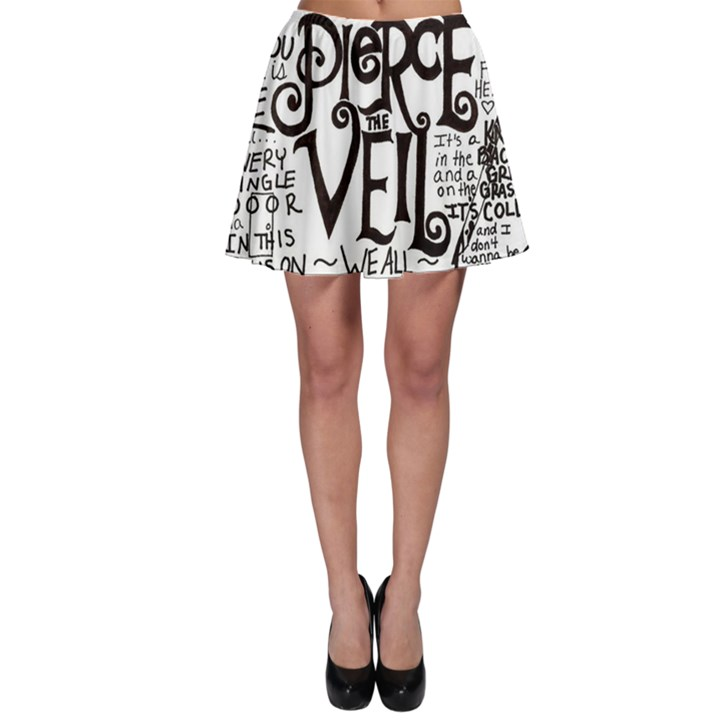 Pierce The Veil Music Band Group Fabric Art Cloth Poster Skater Skirt