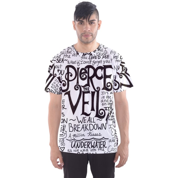 Pierce The Veil Music Band Group Fabric Art Cloth Poster Men s Sport Mesh Tee