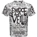 Pierce The Veil Music Band Group Fabric Art Cloth Poster Men s Cotton Tee View1