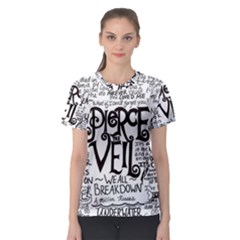 Pierce The Veil Music Band Group Fabric Art Cloth Poster Women s Sport Mesh Tee
