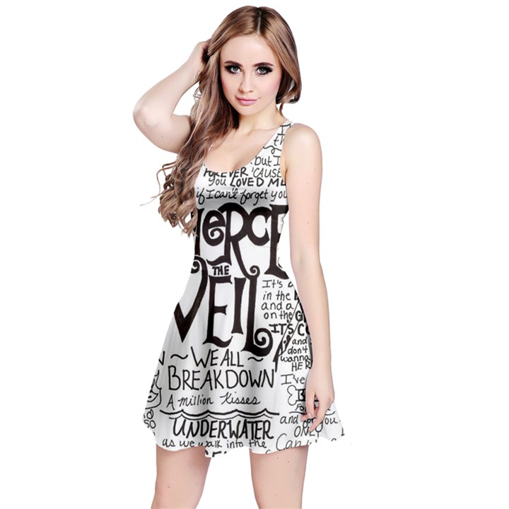 Pierce The Veil Music Band Group Fabric Art Cloth Poster Reversible Sleeveless Dress
