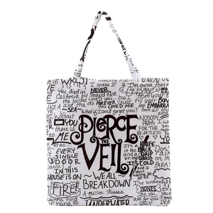 Pierce The Veil Music Band Group Fabric Art Cloth Poster Grocery Tote Bag
