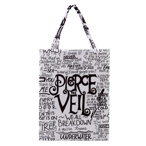 Pierce The Veil Music Band Group Fabric Art Cloth Poster Classic Tote Bag