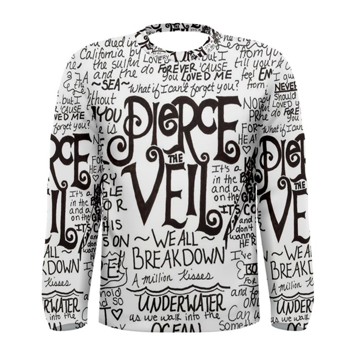 Pierce The Veil Music Band Group Fabric Art Cloth Poster Men s Long Sleeve Tee