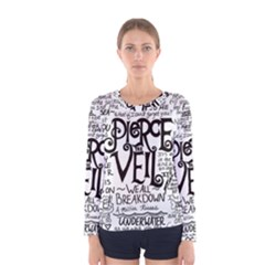 Pierce The Veil Music Band Group Fabric Art Cloth Poster Women s Long Sleeve Tee