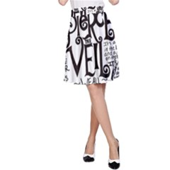 Pierce The Veil Music Band Group Fabric Art Cloth Poster A Line Skirt