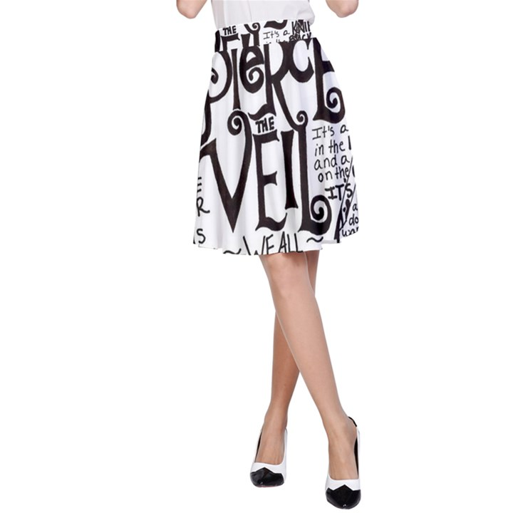 Pierce The Veil Music Band Group Fabric Art Cloth Poster A-Line Skirt