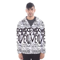 Pierce The Veil Music Band Group Fabric Art Cloth Poster Hooded Wind Breaker (Men)
