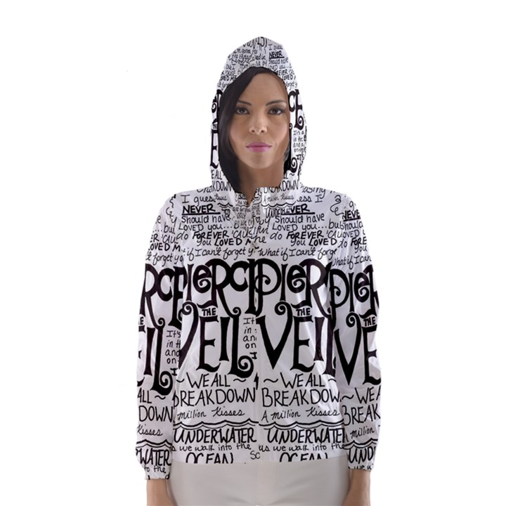 Pierce The Veil Music Band Group Fabric Art Cloth Poster Hooded Wind Breaker (Women)