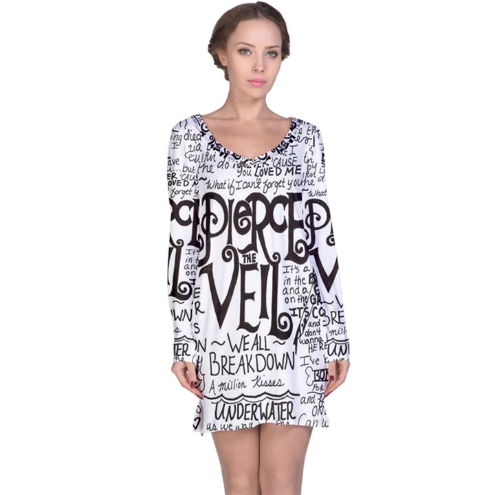 Pierce The Veil Music Band Group Fabric Art Cloth Poster Long Sleeve Nightdress