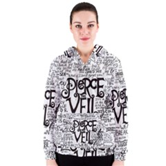 Pierce The Veil Music Band Group Fabric Art Cloth Poster Women s Zipper Hoodie