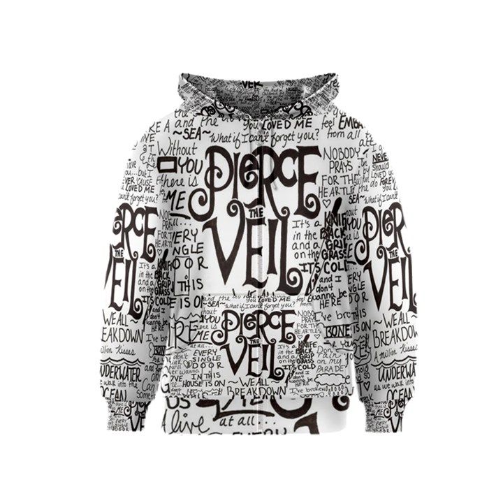 Pierce The Veil Music Band Group Fabric Art Cloth Poster Kids  Zipper Hoodie