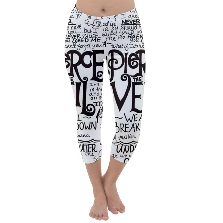 Pierce The Veil Music Band Group Fabric Art Cloth Poster Capri Winter Leggings