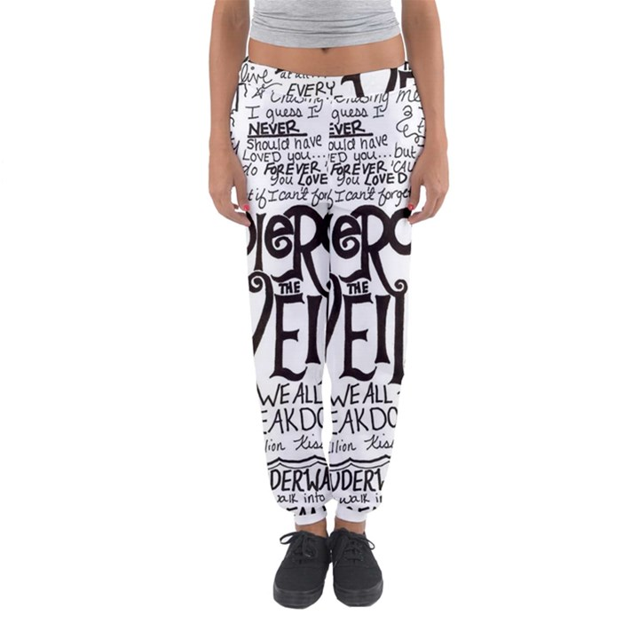 Pierce The Veil Music Band Group Fabric Art Cloth Poster Women s Jogger Sweatpants