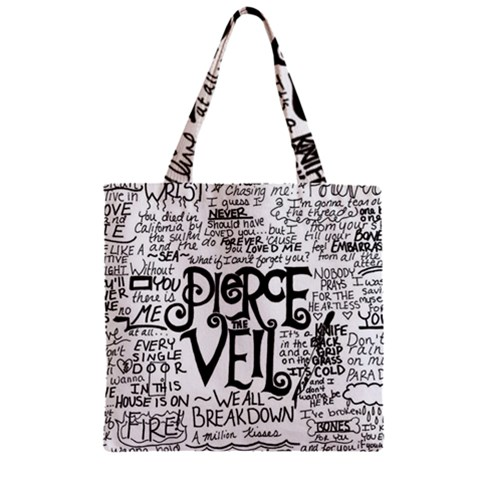 Pierce The Veil Music Band Group Fabric Art Cloth Poster Zipper Grocery Tote Bag