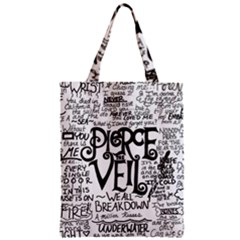 Pierce The Veil Music Band Group Fabric Art Cloth Poster Zipper Classic Tote Bag
