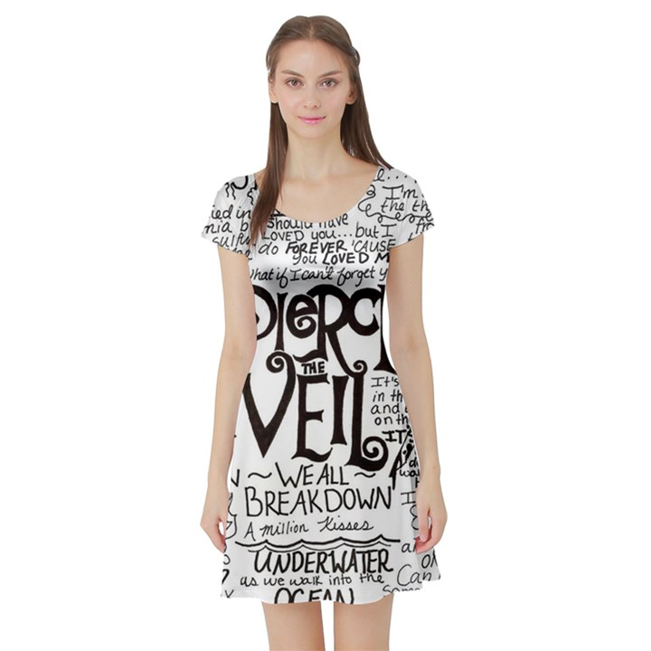 Pierce The Veil Music Band Group Fabric Art Cloth Poster Short Sleeve Skater Dress