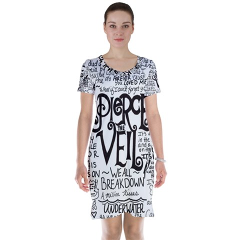 Pierce The Veil Music Band Group Fabric Art Cloth Poster Short Sleeve Nightdress