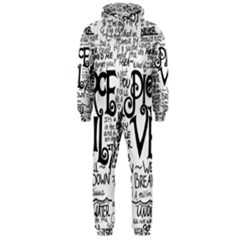 Pierce The Veil Music Band Group Fabric Art Cloth Poster Hooded Jumpsuit (Men)