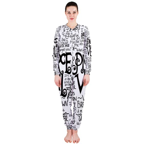 Pierce The Veil Music Band Group Fabric Art Cloth Poster OnePiece Jumpsuit (Ladies)