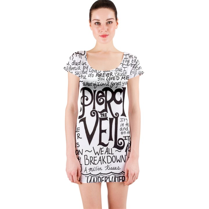 Pierce The Veil Music Band Group Fabric Art Cloth Poster Short Sleeve Bodycon Dress