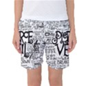 Pierce The Veil Music Band Group Fabric Art Cloth Poster Women s Basketball Shorts View1