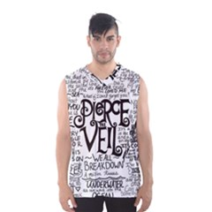 Pierce The Veil Music Band Group Fabric Art Cloth Poster Men s Basketball Tank Top