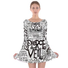 Pierce The Veil Music Band Group Fabric Art Cloth Poster Long Sleeve Skater Dress