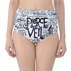 Pierce The Veil Music Band Group Fabric Art Cloth Poster High-Waist Bikini Bottoms