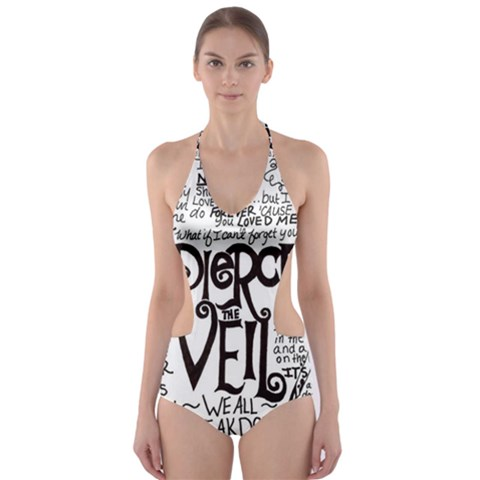 Pierce The Veil Music Band Group Fabric Art Cloth Poster Cut-Out One Piece Swimsuit