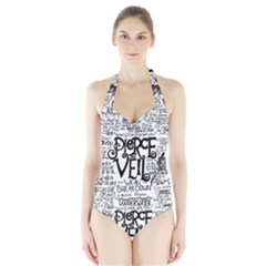 Pierce The Veil Music Band Group Fabric Art Cloth Poster Halter Swimsuit